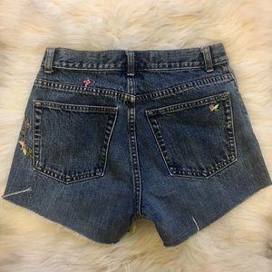 GAP Shorts - Vintage Gap | embroidered cut off jean shorts | 28